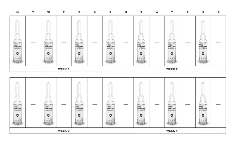 kuidas kasutada Labo Hair Loss 5 Patents juukseampulle